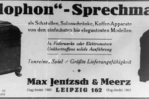 Anzeige von 1922