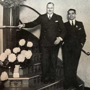 Richard Scott (links) und Alfred W. Adickes im Jahr 1935