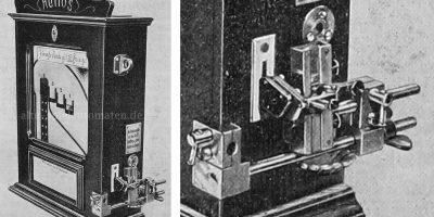 Schleuderapparat an einem Helios-Spielautomaten 1910
